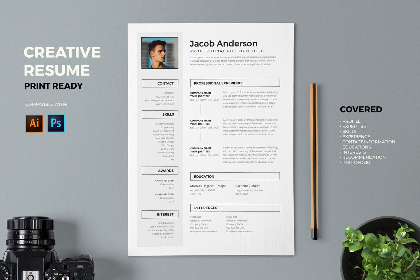 creative professional resume template  free