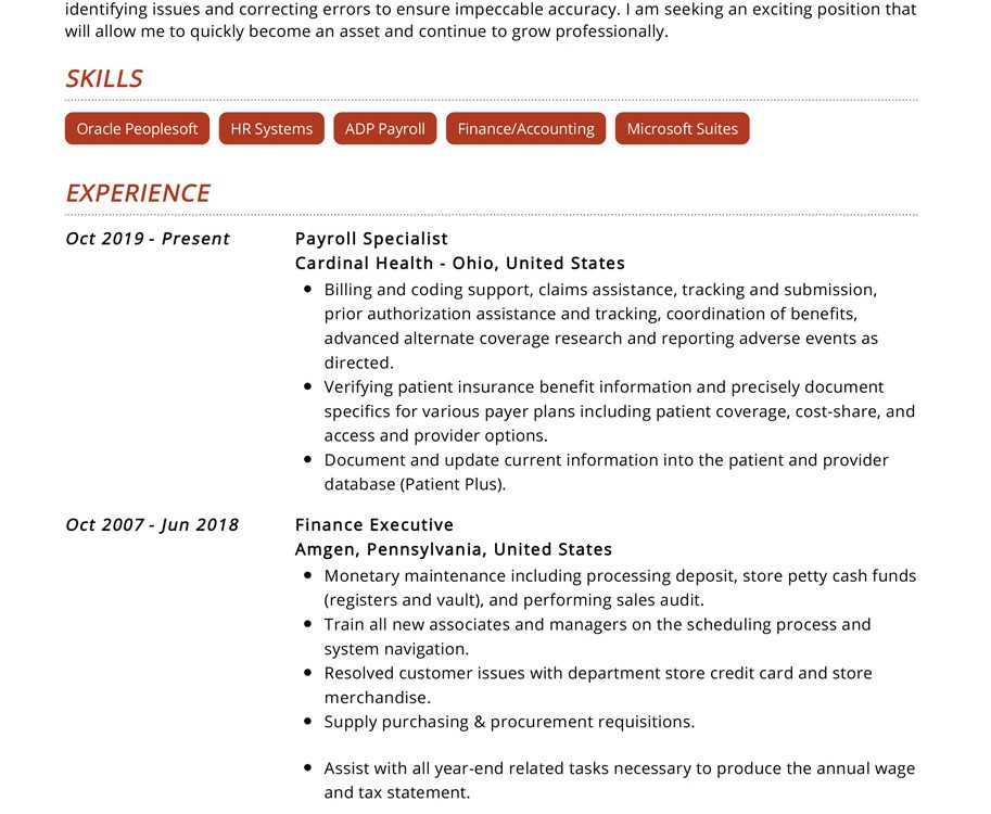 payroll-specialist-resume-example