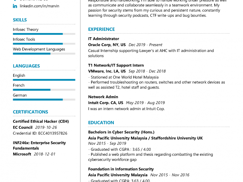 Cyber Security Cover Letter from resumekraft.com