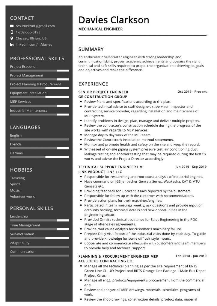mechanical engineer resume sample  u0026 writing tips 2020