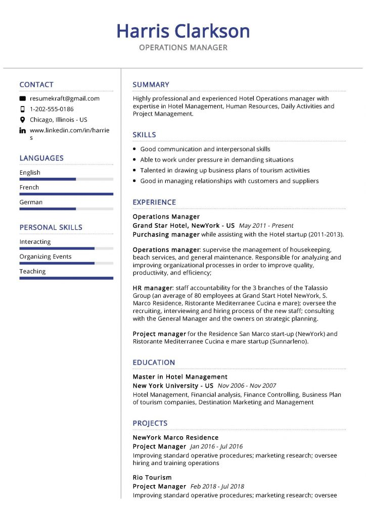 operations manager resume sample  u0026 writing tips 2020