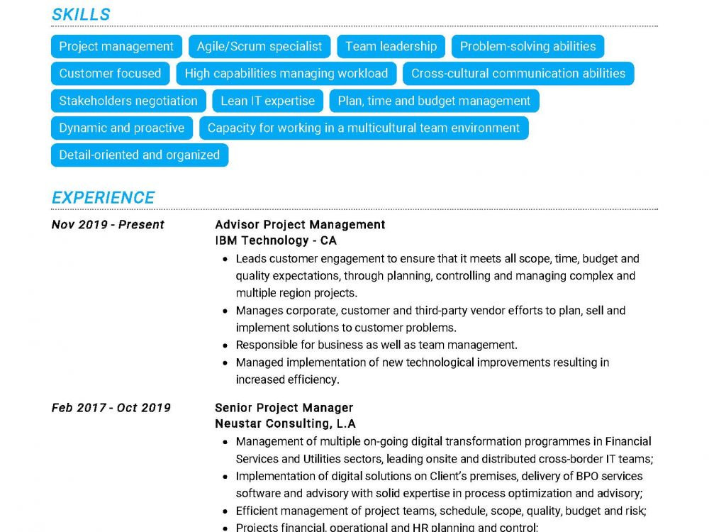 Project Manager Resume Sample_Page_2