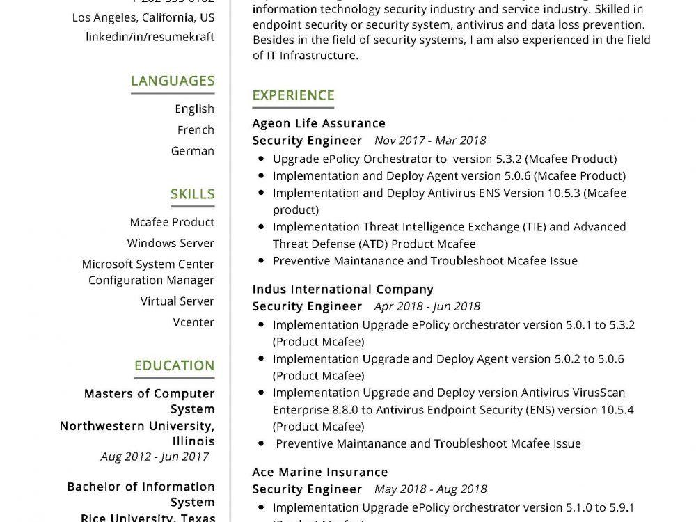 security engineer  it  resume sample  u0026 writing tips 2020
