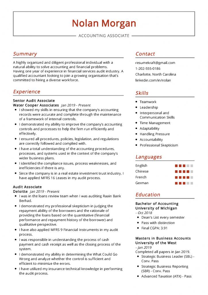 Accounting Associate Resume Sample   PDF Download ...