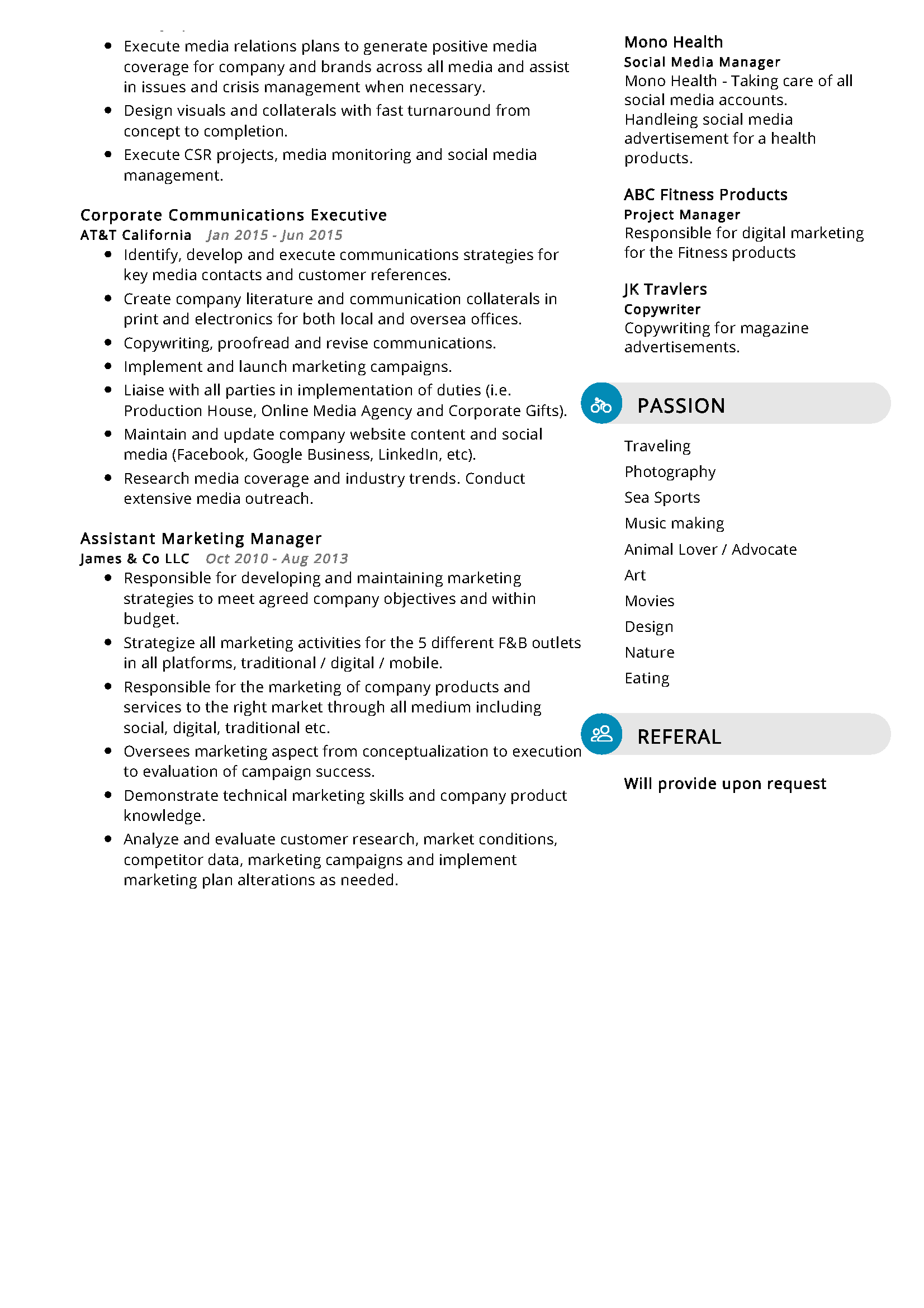 digital marketer resume sample in 2020