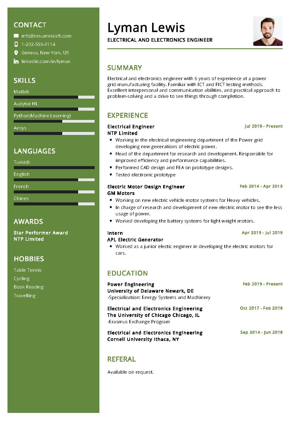 Electrical Engineer Resume Sample | PDF Download - ResumeKraft
