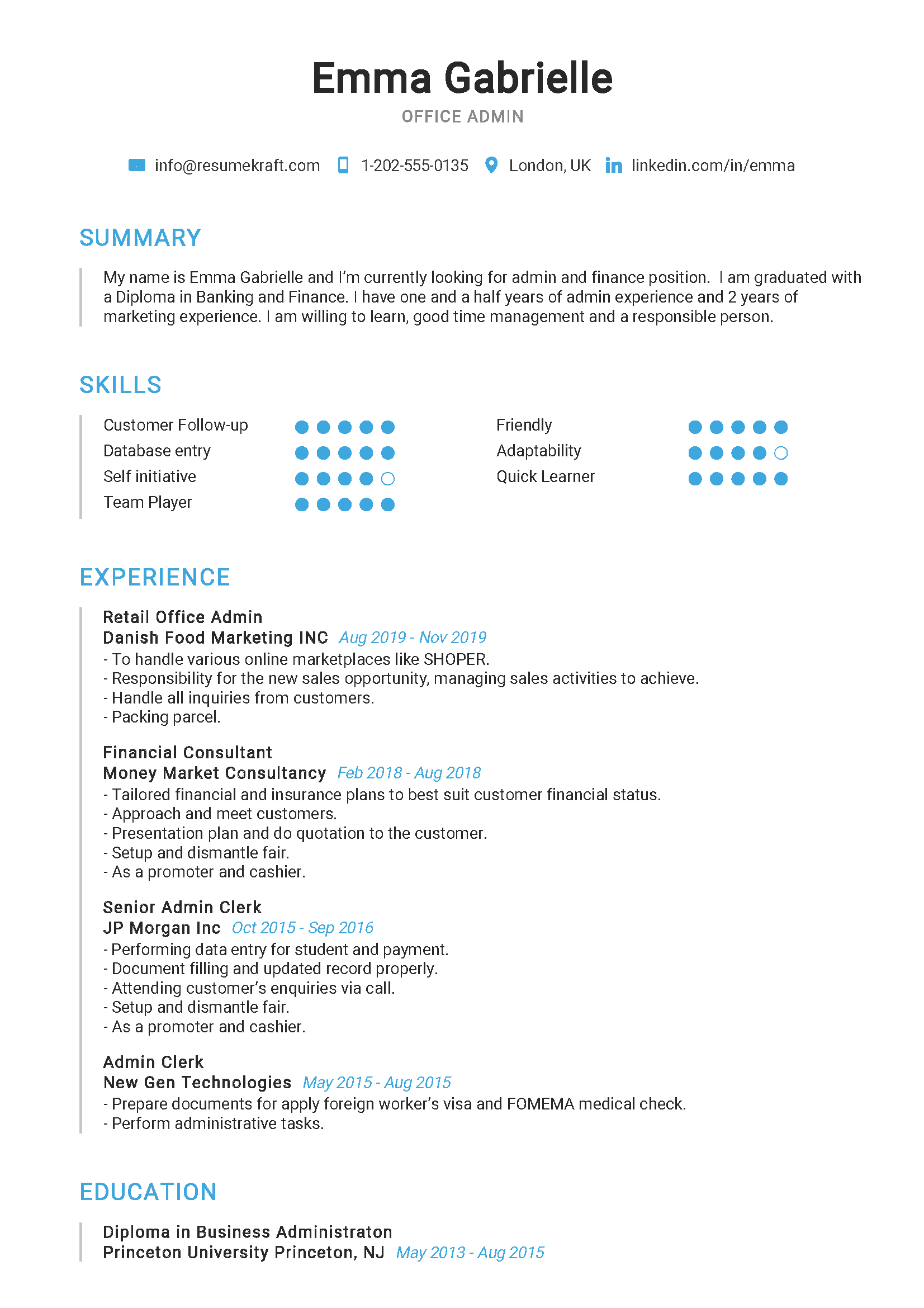 Office-Admin-Resume-Example