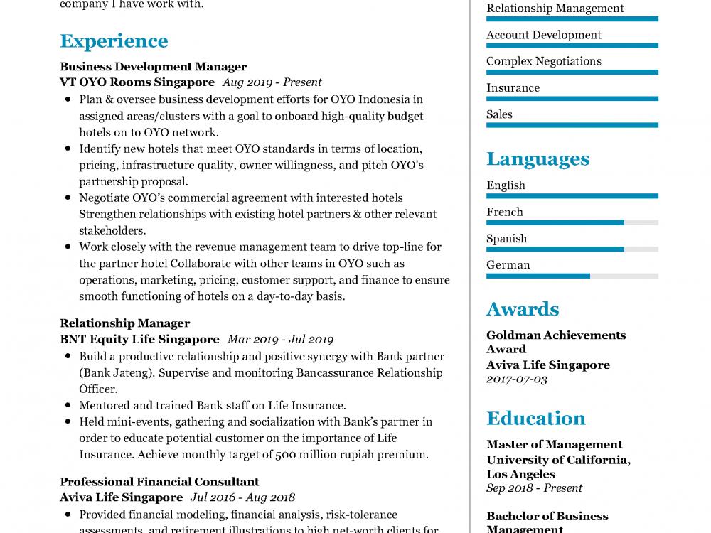Relationship Manager Resume Sample In 2020 Resumekraft