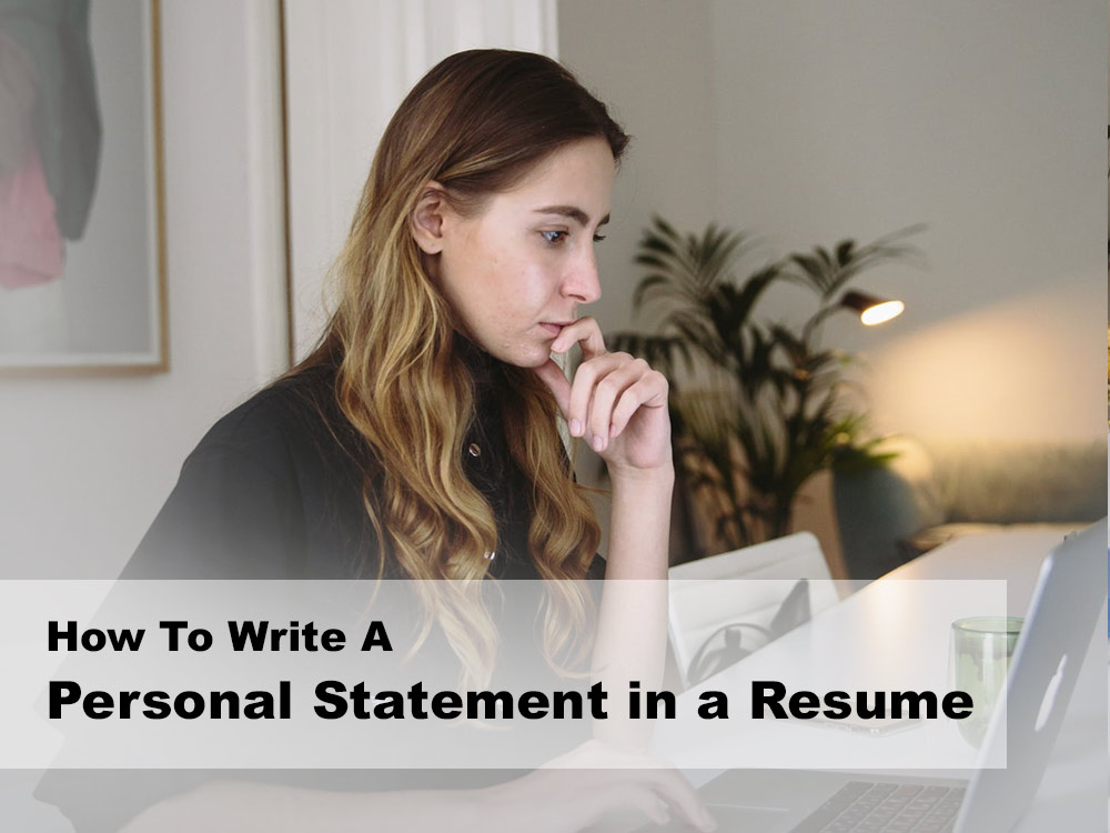 how to write a personal statement in a resume 2020