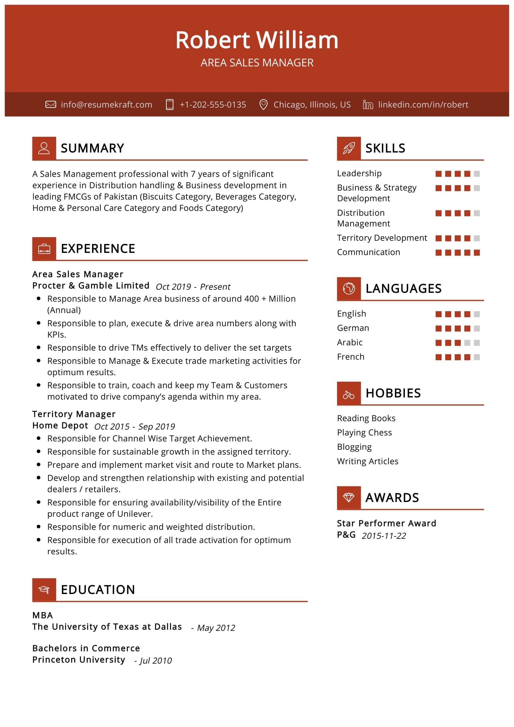Area sales manager resume example the lovely bones persuasive essays
