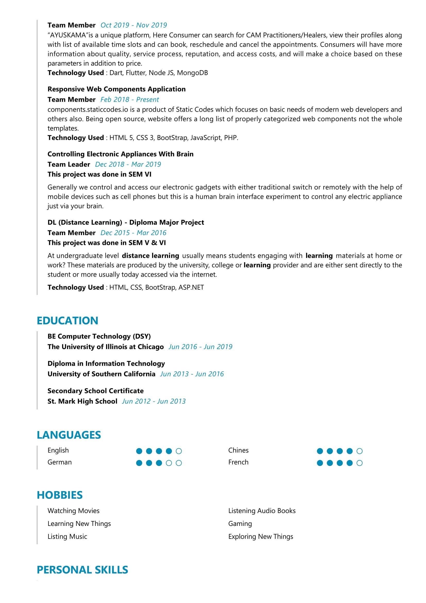 associate software engineer resume sample  resumekraft