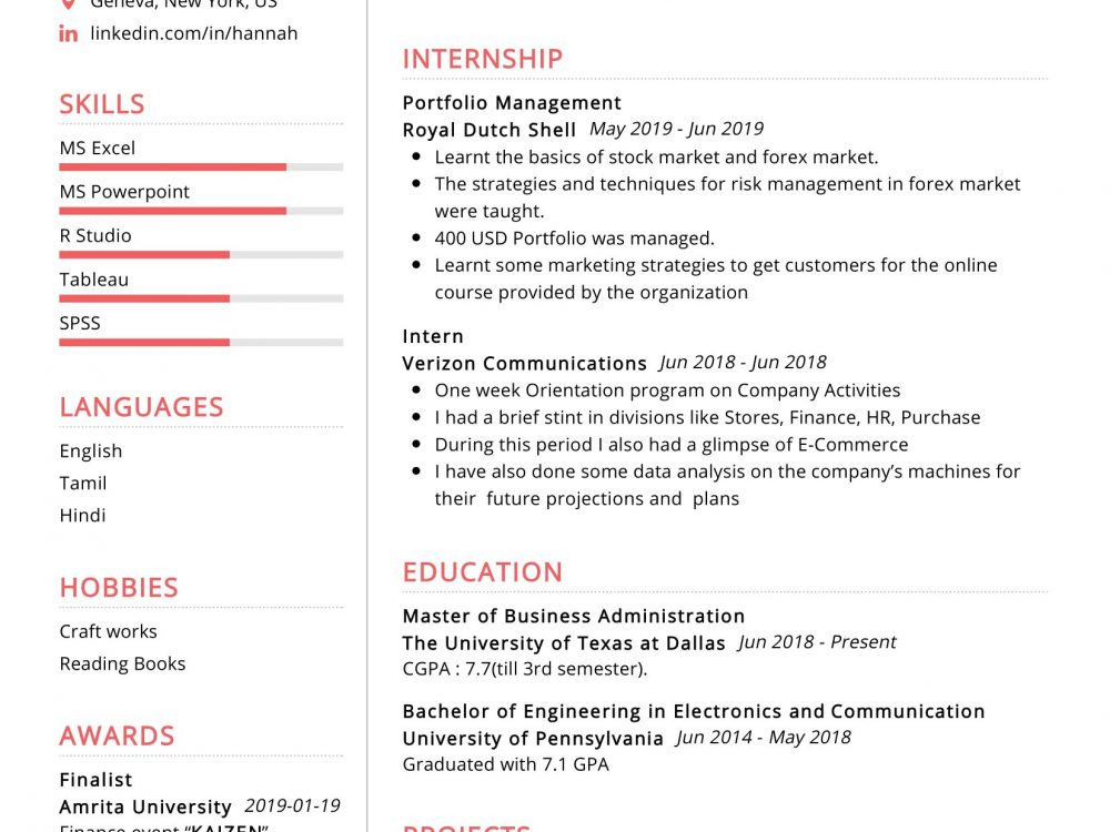 mba finance resume sample  resumekraft