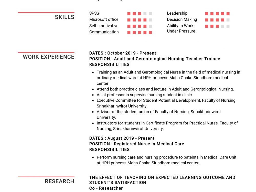 Nursing Instructor Resume Sample