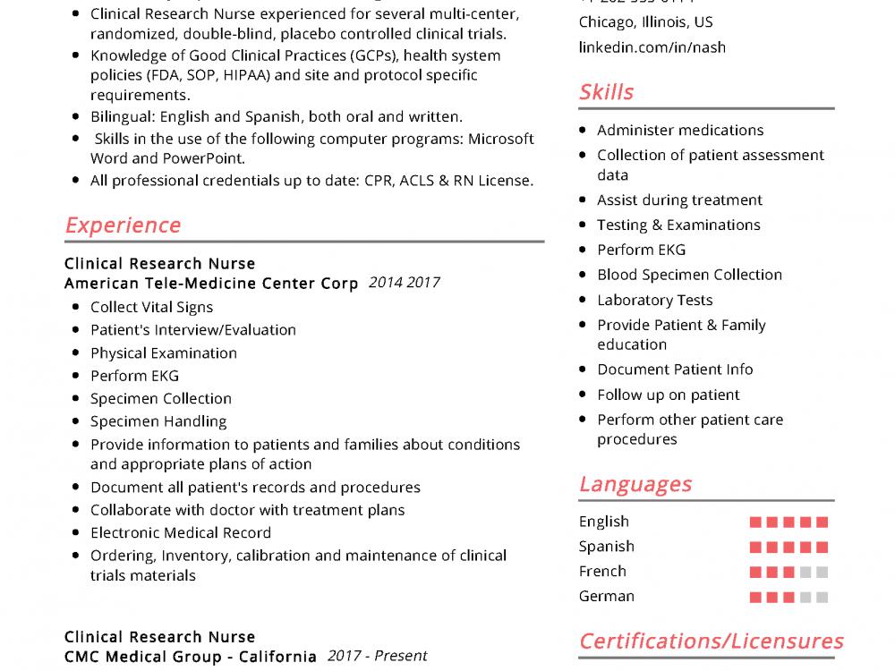 RN BSN Resume Sample
