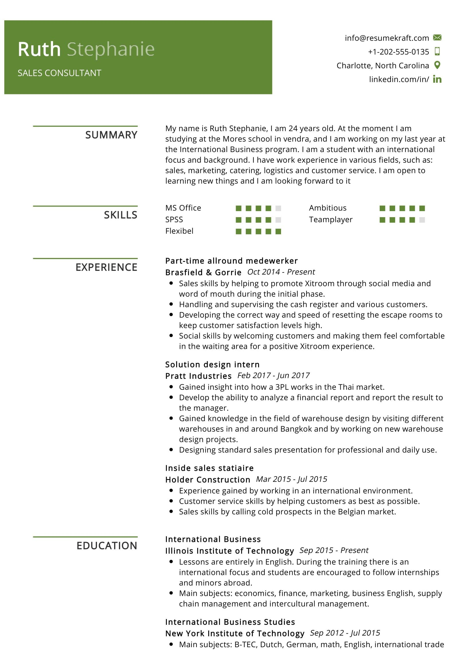 Best sales consultant resume graphs in research papers