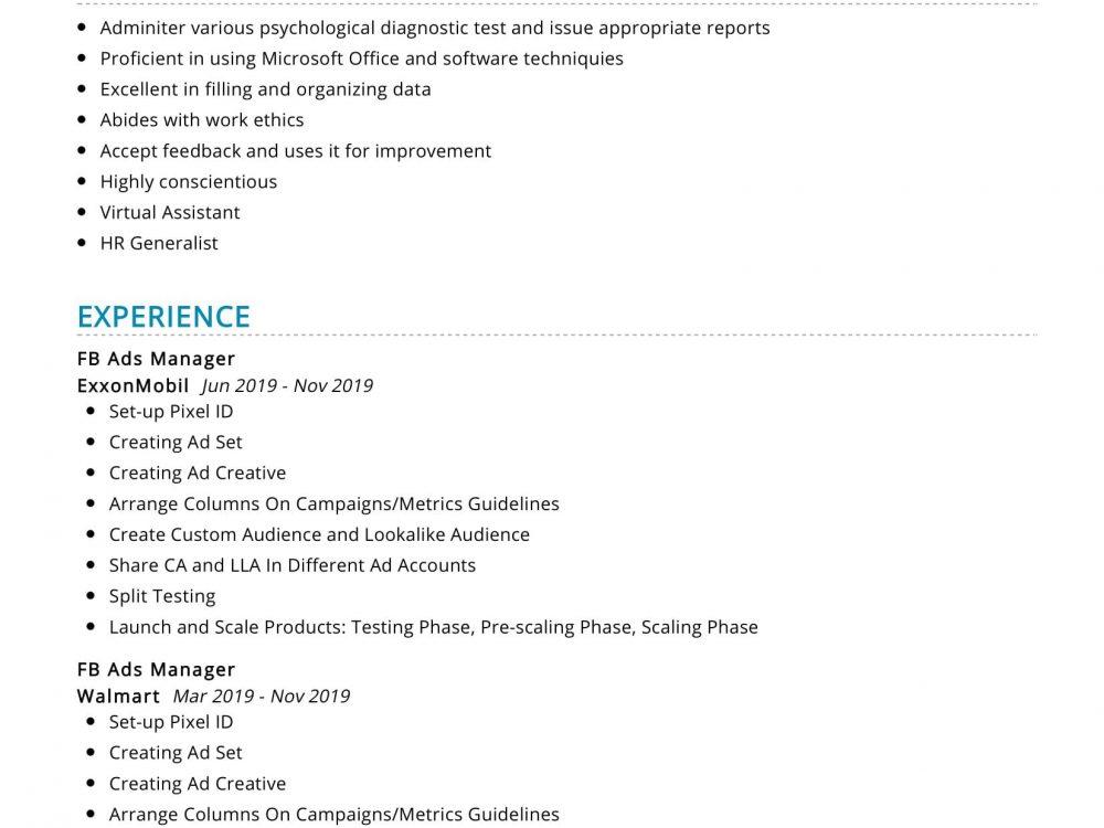 social media manager resume sample