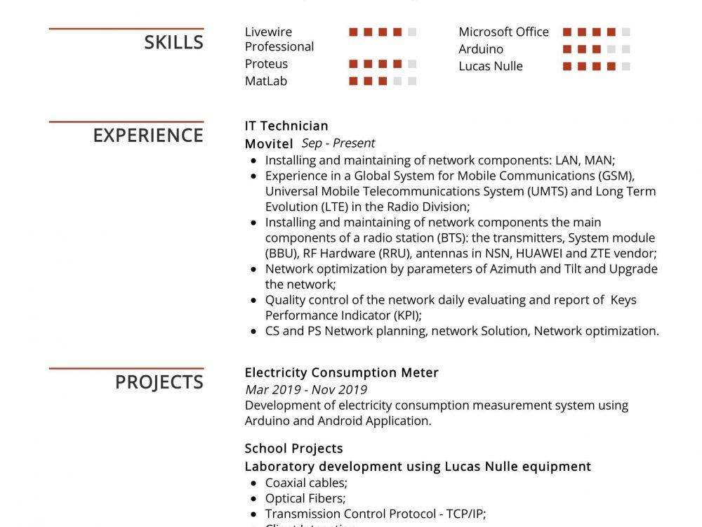 telecom engineer resume sample  resumekraft