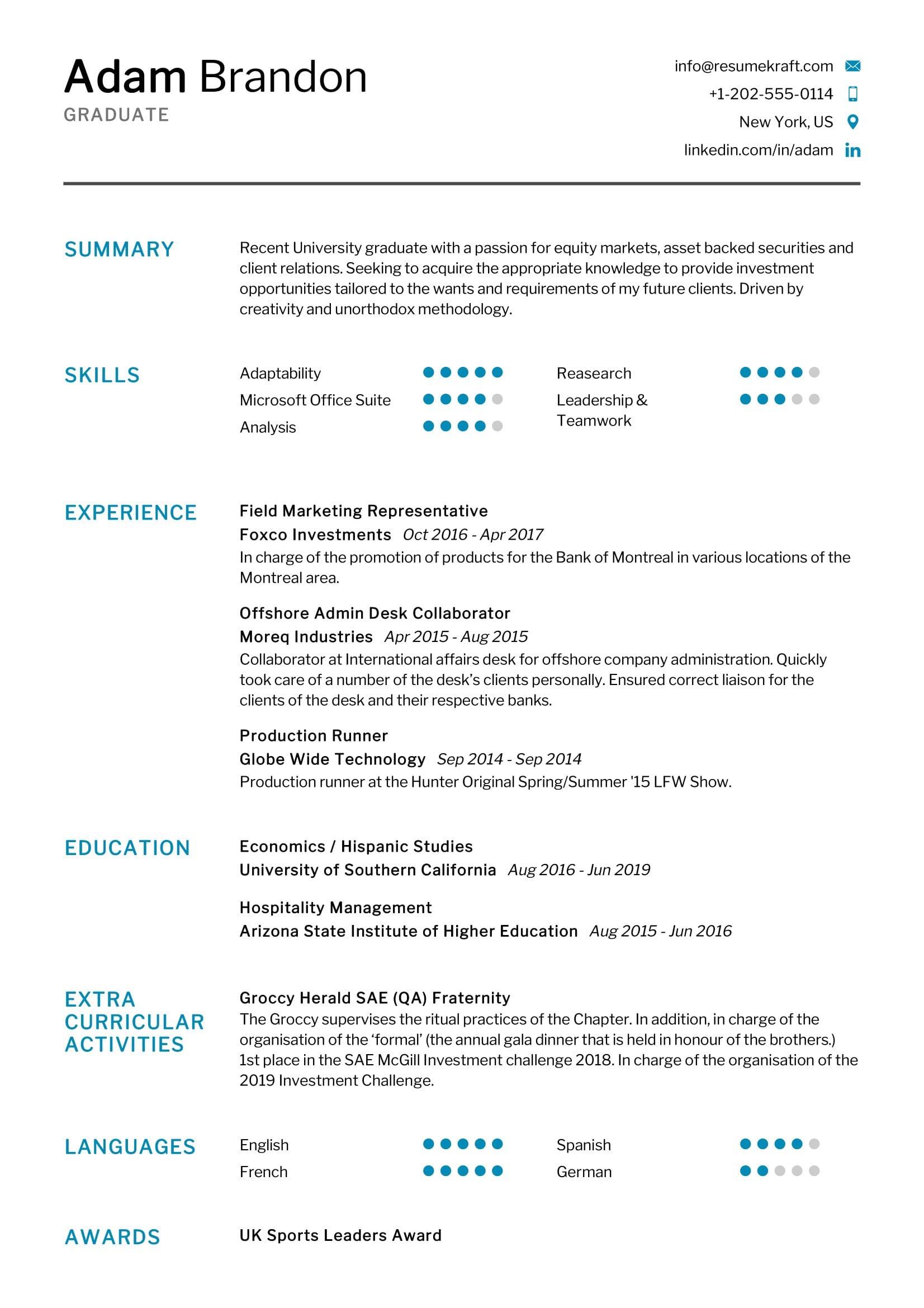 Job resume sample fresh graduate gcse maths statistics coursework