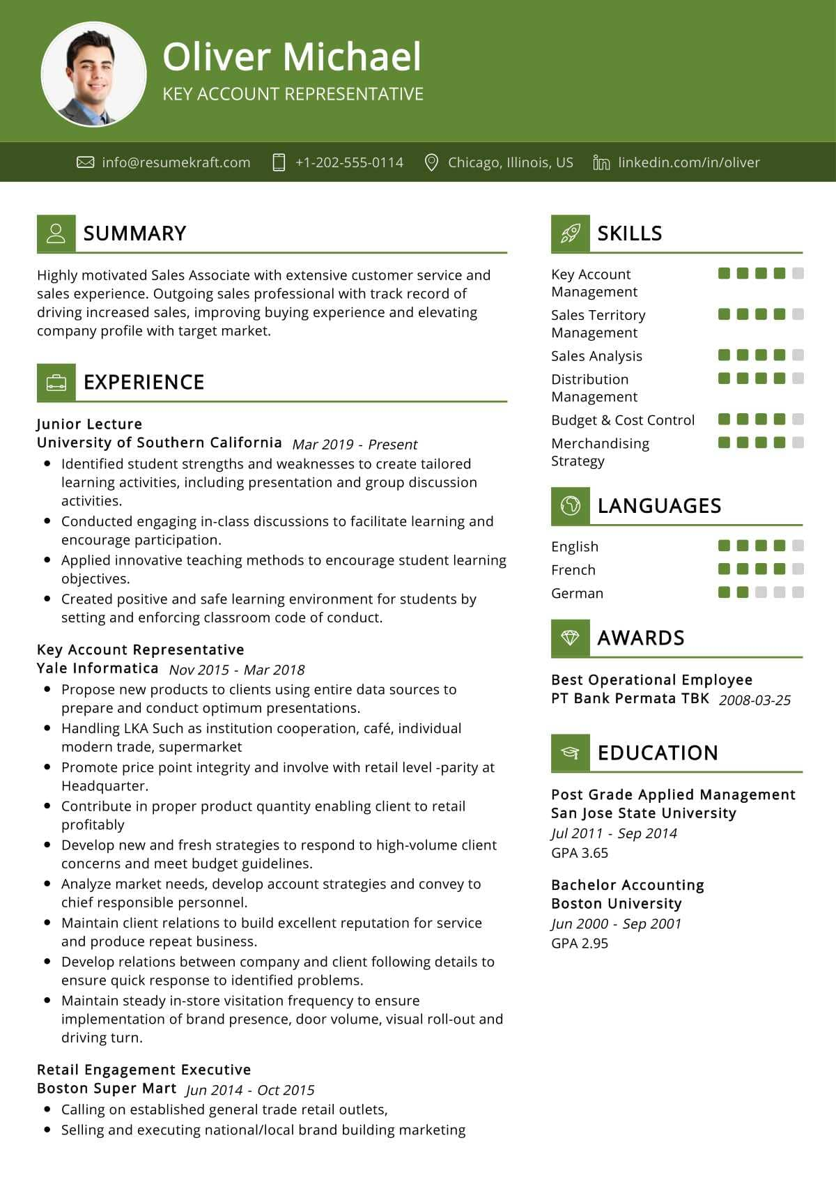 Account Representative Resume