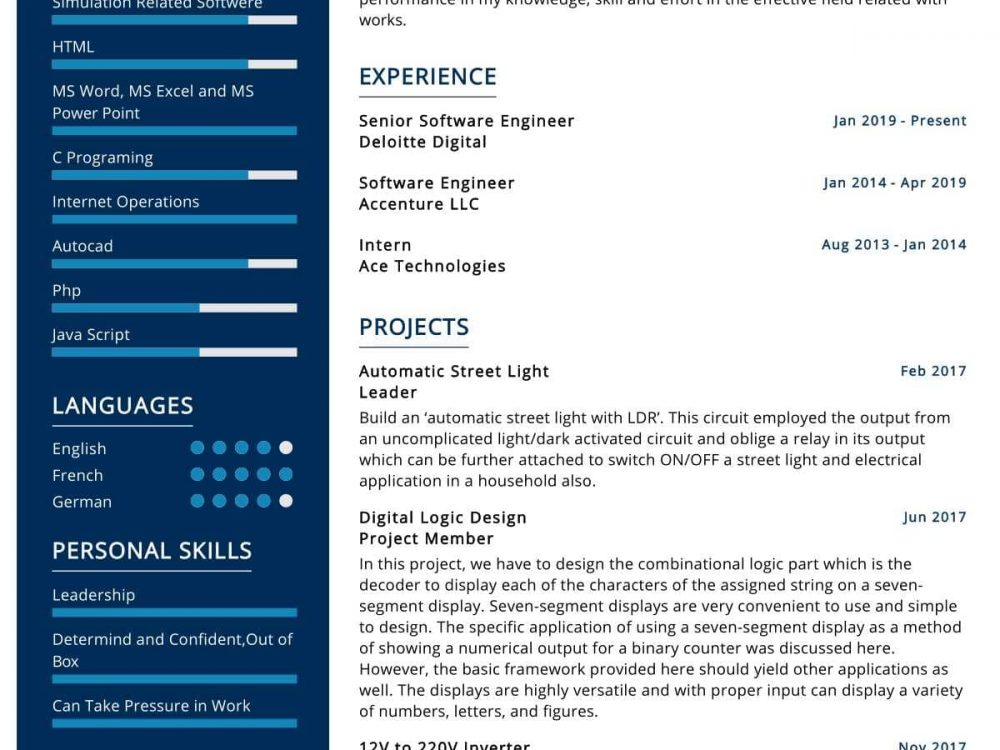 IoT Engineer Resume Sample