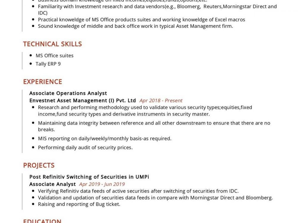 Associate Operations Analyst