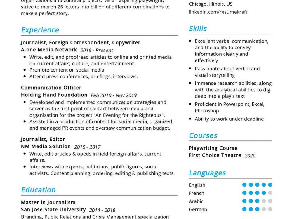 Communication Officer Resume