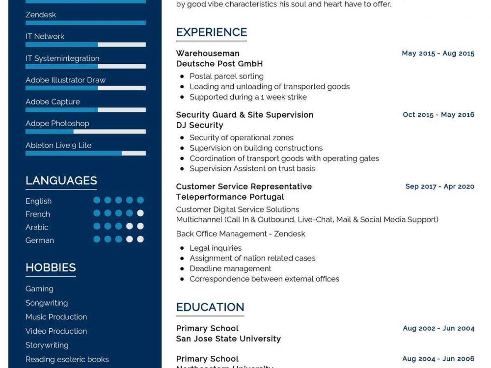 Customer Representative Resume