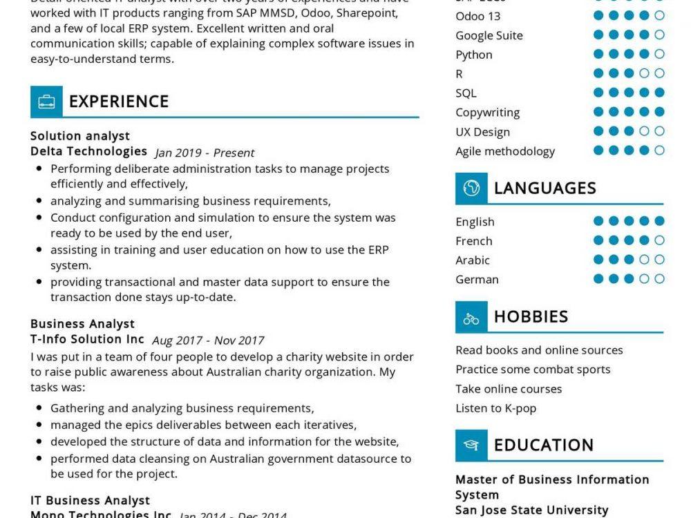 Data Analyst Resume Sample