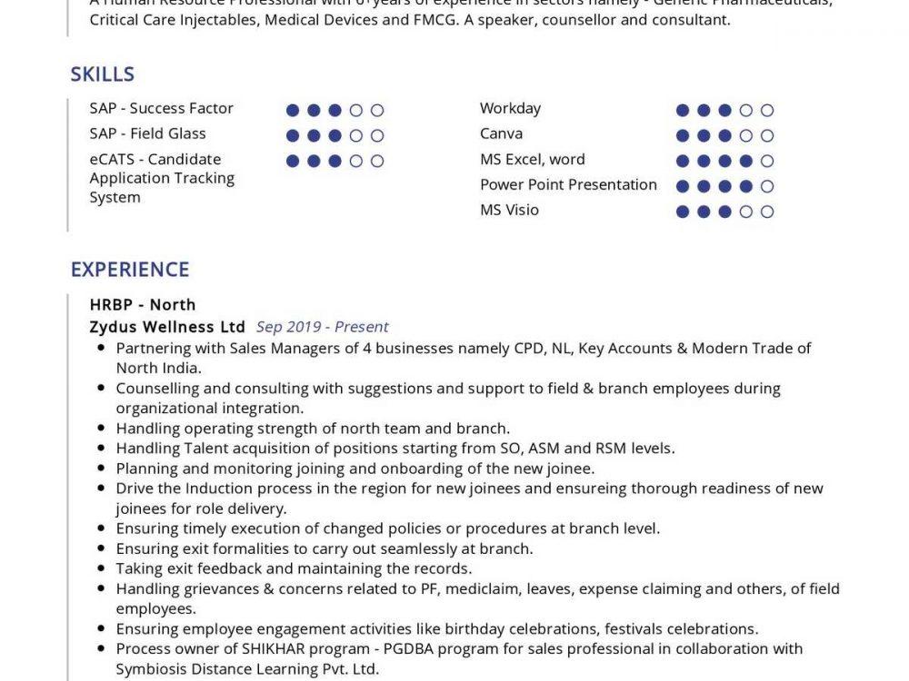 human resource professional resume sample  resumekraft