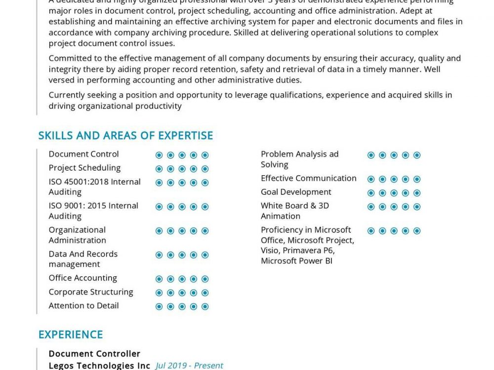 Office Administration Resume Example
