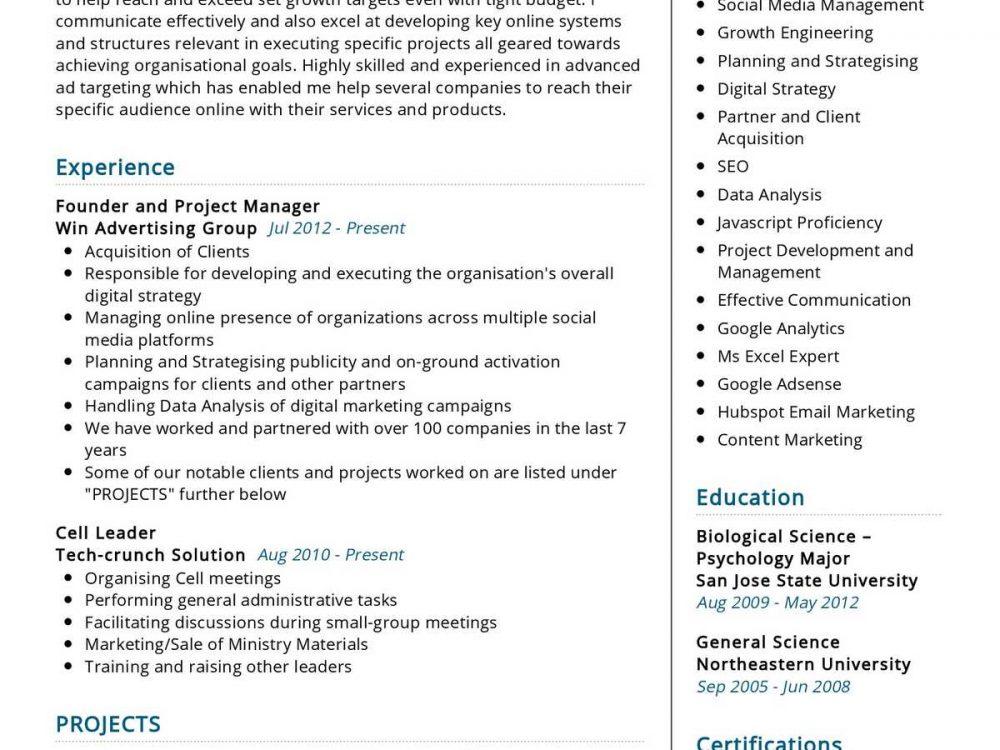 Social Media Strategist Resume