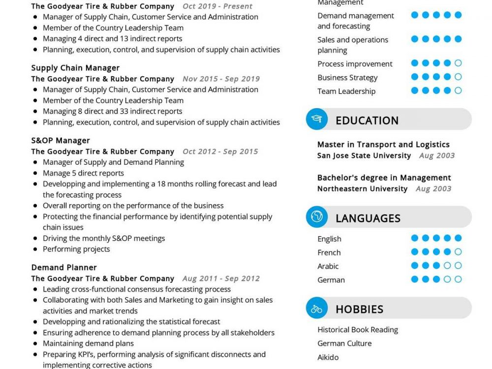 Supply Chain Manager Resume