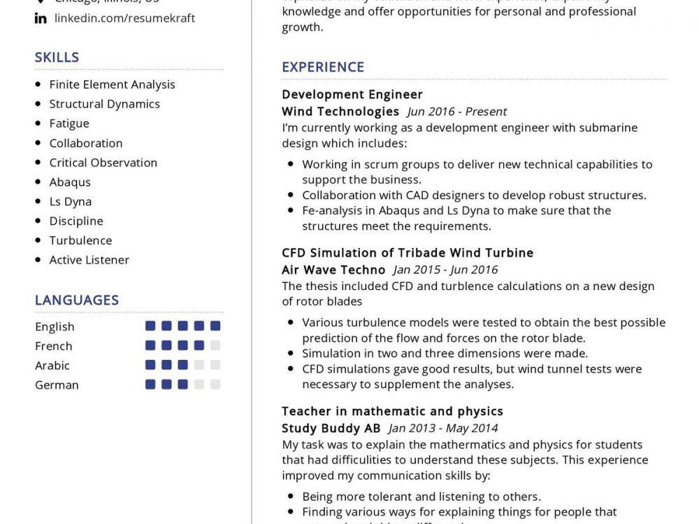 Development Engineer Resume