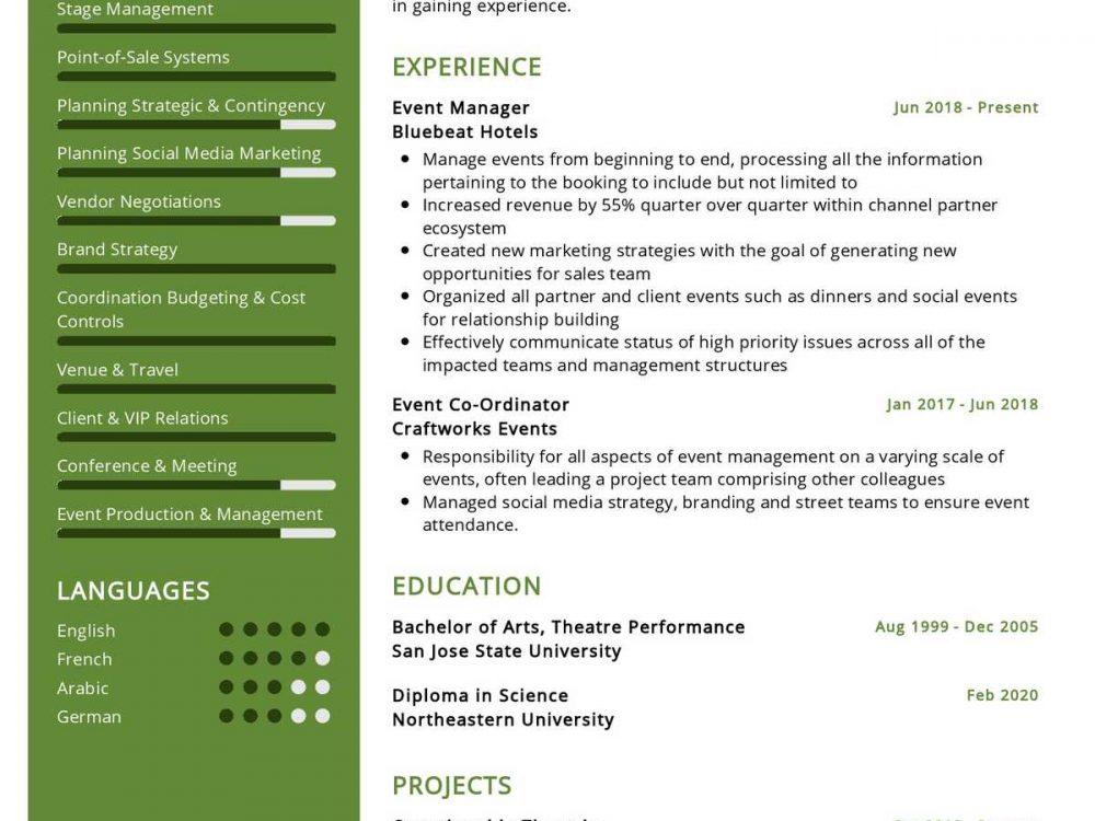 Event Management Specialist Resume