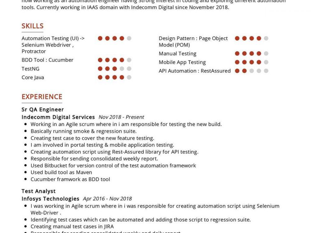 Software Tester Resume Sample
