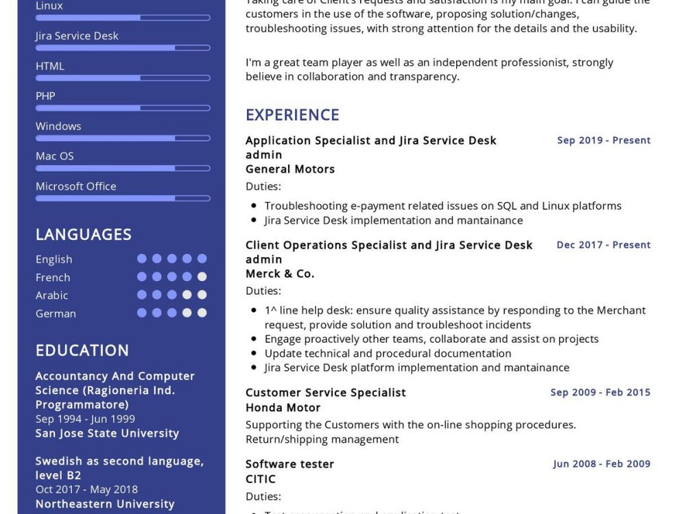 Application Specialist Resume