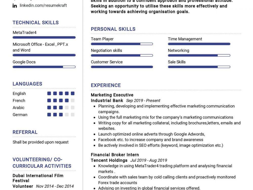 Business Graduate Resume