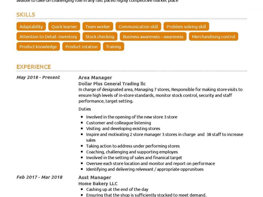 Retail Professional Resume