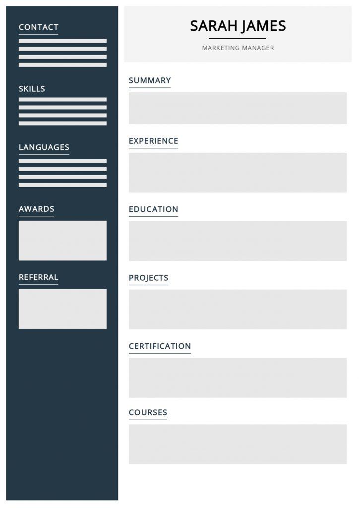 blank CV template