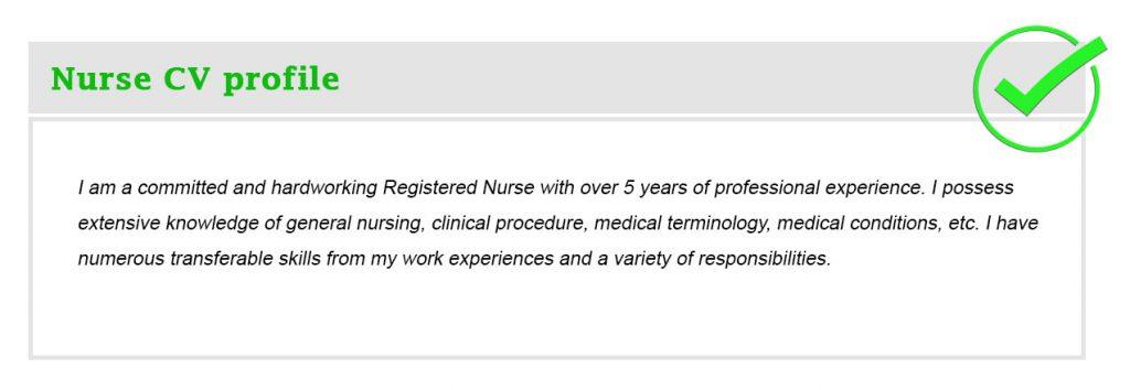 Nurse CV profile