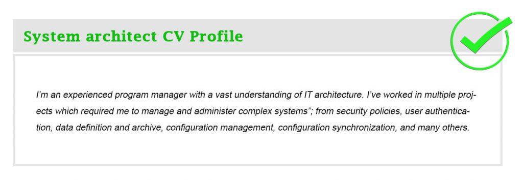 System architect CV Profile