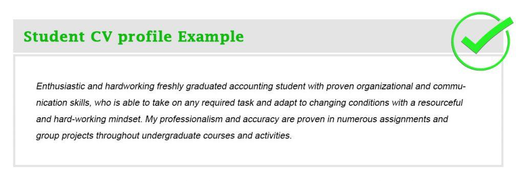 Student CV profile