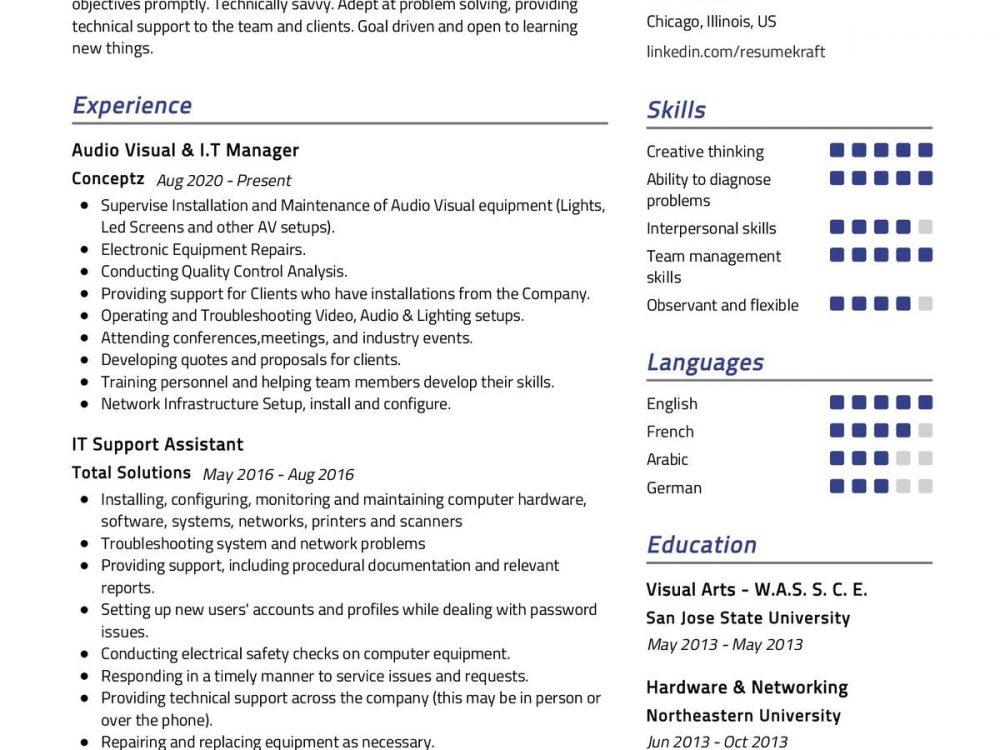 IT Specialist CV Sample