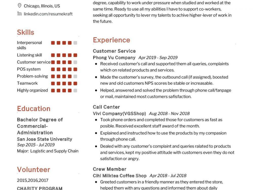 Student CV Sample