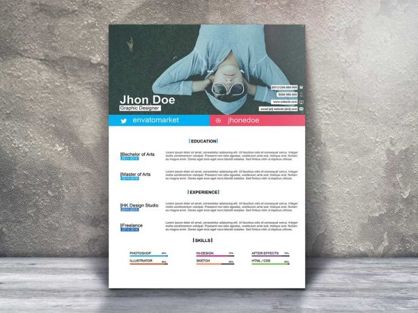 Clean One Page Resume Template