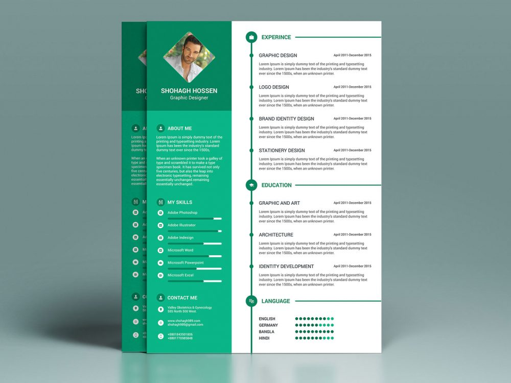 professional modern resume template free