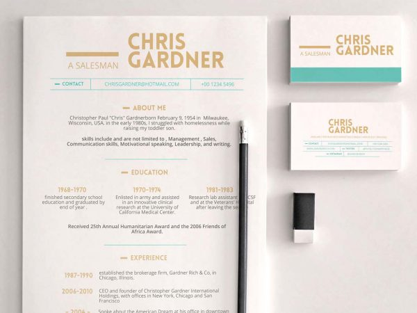 Free Minimalistic Resume Download