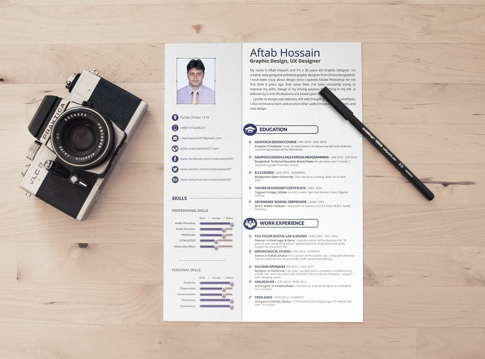 Simple 2 page Resume Template