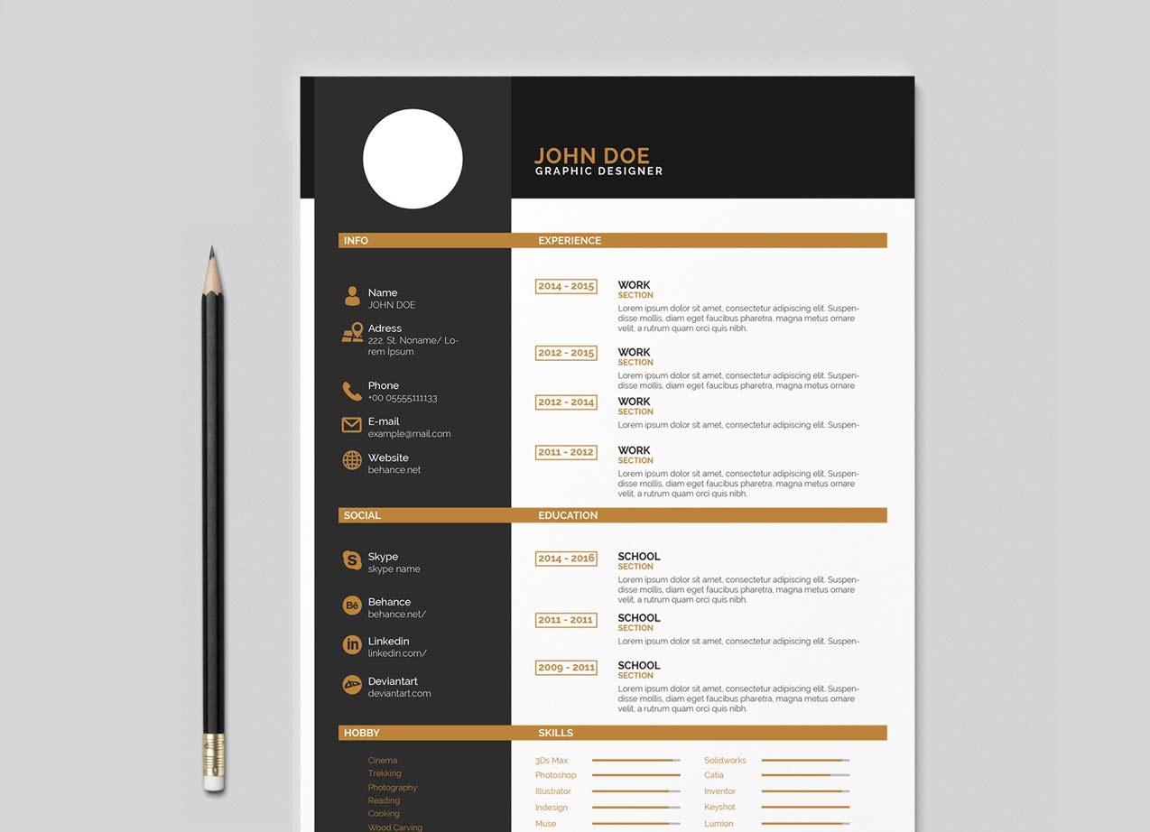 Indesign Resume Template Free Download Resumekraft