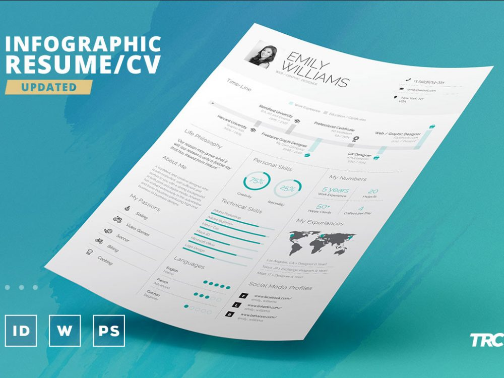 infographic cv resume template free download